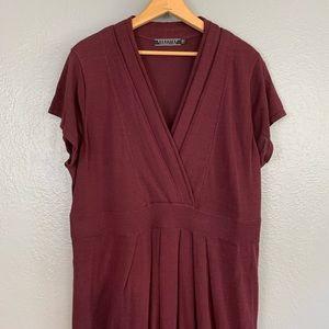 Peruvian Connection Cotton Burgundy Maxi Dress